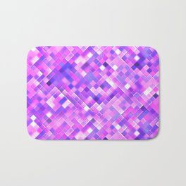 Lilac Bright Squares Mosaic Bath Mat