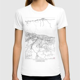Caracas Map White T-shirt