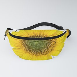 Sunflowers on a squar pattern white background #decor #society6 Fanny Pack