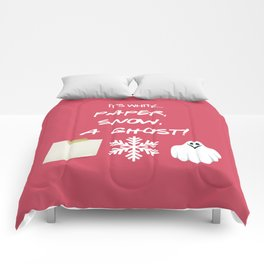 Paper, Snow, A Ghost! - Friends TV Show Comforters