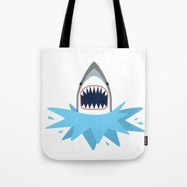 Cartoon Shark Splash Tote Bag