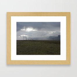 Transmission Towers near Núpsstaður Framed Art Print