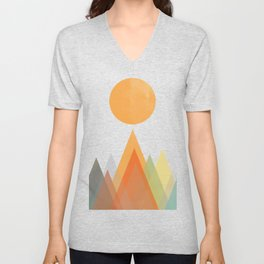 Spring in the mountains Unisex V-Neck