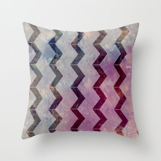Pattern P Throw Pillow