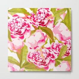 Lovely Peony Flowers Blossom - Summer Garden Metal Print