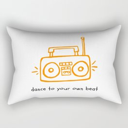 Dance to your Own Beat Boom Box Rectangular Pillow