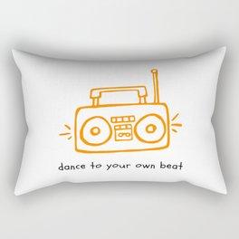 Dance to your Own Beat Boom Box Rectangular Pillow