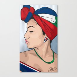 Chicks and Head Wraps 2 Canvas Print