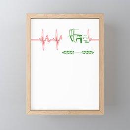 Farmer Heartbeat Farming Farm Plants Vegetables Fruits Gift Framed Mini Art Print