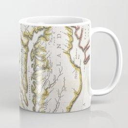 Vintage Map of Virginia and Maryland (1796) Coffee Mug
