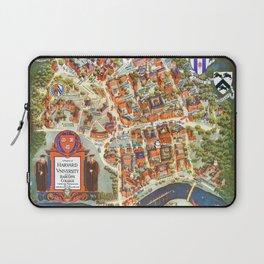 HARVARD University map MASSACHUSETTS Laptop Sleeve