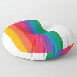 Retro Bright Rainbow - Straight Floor Pillow
