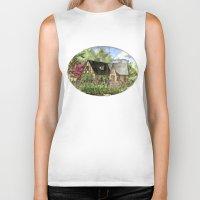 kentucky Biker Tanks featuring Tudor House on Kentucky Avenue by Shelley Ylst Art