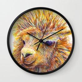Colorful Llama art Wall Clock
