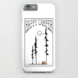 Happy Camper - with Lettering iPhone Case