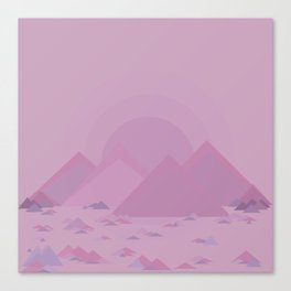 The lilac hills Canvas Print
