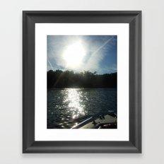 Floating Along Framed Art Print