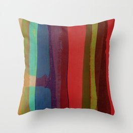 Strips on MDF Board Throw Pillow