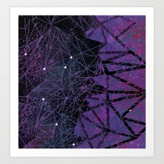 geometry of purple space Art Print