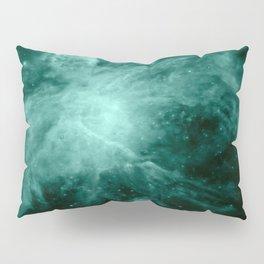 Orion Nebula Dark Teal Pillow Sham