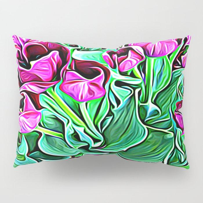 Nurturing Flowers in Pink Pillow Sham
