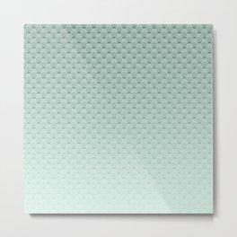 Geometric #turquoise #pattern #monochrome Metal Print
