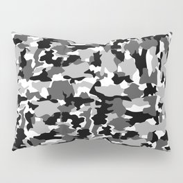 black and white Background Pattern Camo Pillow Sham