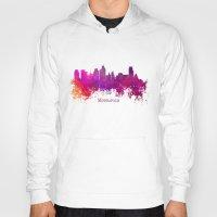 minneapolis Hoodies featuring Minneapolis skyline purple by jbjart