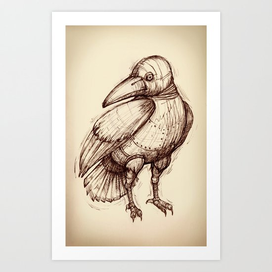 Metal Bird Art Print