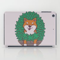shiba inu iPad Cases featuring Just hangin' out here.. (Inu Series) by Corinna Schlachter