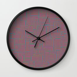 Shaping Up (Color) Wall Clock