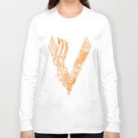 vikings Long Sleeve T-shirts featuring Vikings by Fiorella Modolo