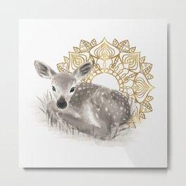 The fawn Metal Print
