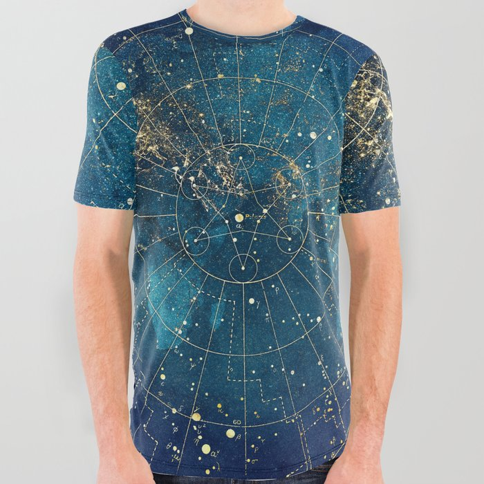 Star Map :: City Lights All Over Graphic Tee