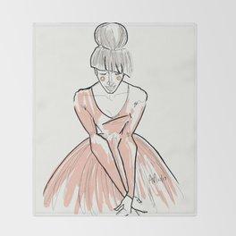 The Dancer Faith Throw Blanket