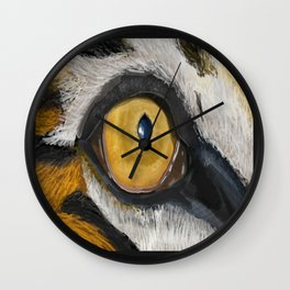 The Tiger Eye Wall Clock
