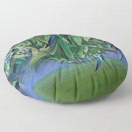 """""""Spring Forest of Surreal Leaf litter and flowers"""" Floor Pillow"""