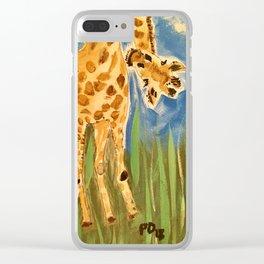 Curious Giraffes Clear iPhone Case