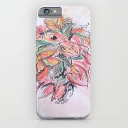 Colored Pencil Flowers iPhone Case