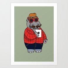 Hipposter Art Print
