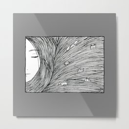 Separated grey Metal Print