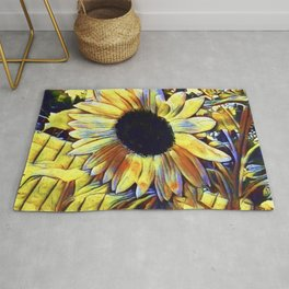 Sunflower After The Storm Rug