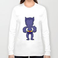 xmen Long Sleeve T-shirts featuring BEAST by Space Bat designs