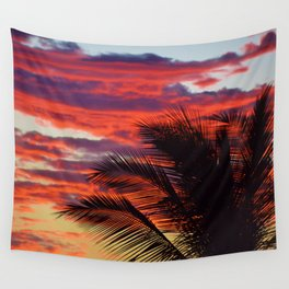 pomegranate sunset Wall Tapestry