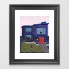 Blue House n°2 Framed Art Print