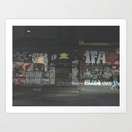 rua augusta, at night Art Print