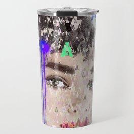 Audrey Type Abstract Art Travel Mug