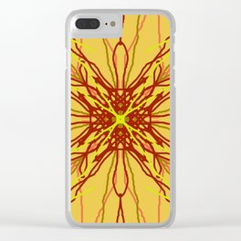 shades of red and yellow Clear iPhone Case