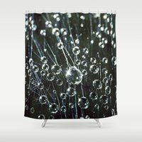 disco Shower Curtains featuring disco web by Bonnie Jakobsen-Martin