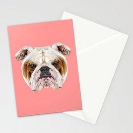 English Bulldog // Pink Stationery Cards